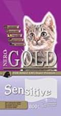 غذای خشک گربه نروگولد مخصوص گربه های حساس - 800 گرمی