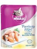 کنسرو 80 گرمی ویسکاس با طعم مرغ و ماهی ماکرل