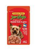 سوپ سگ جرهای در 4 طعم مختلف . حاوی مقدار زیادی گوشت ، سبزیحات و مرغ