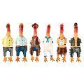 اسباب بازی مرغ لاتکس صدا دار برای سگ مزرعه مرغ ها