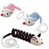 اسباب بازی موش فنری برای گربه ها