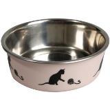 ظرف استیل آب و غذا سگ و گربه 14 سانتی