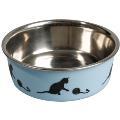 ظرف استیل آب و غذا سگ و گربه 12 سانتی