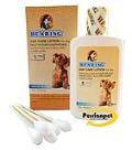 محلول تمیز کننده گوش سگ ها همراه با گوش پاک کن