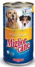 کنسرو 1650 گرمی سگ میگلیور در دو طمع