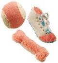 اسباب بازی اسفنجی همراه با الیاف طبیعی طرح کفش
