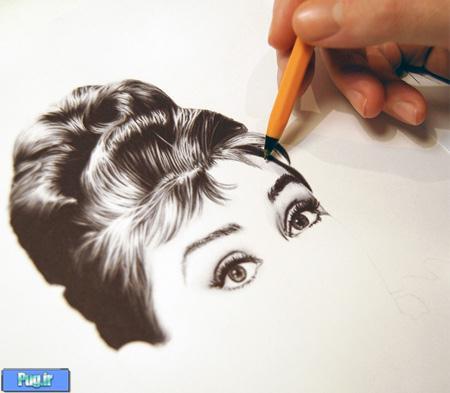عکس+عاشقانه+طراحی+شده+با+مداد