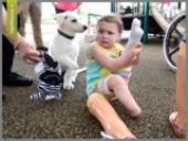 دوستی جالب دختر 3 ساله با سگ